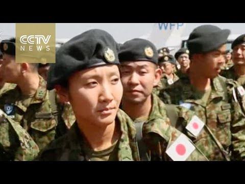 Japan's UN peacekeepers land in South Sudan