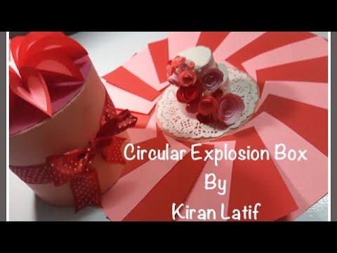 DIY Circular Explosion Box| Easy| Tutorial| Beginners