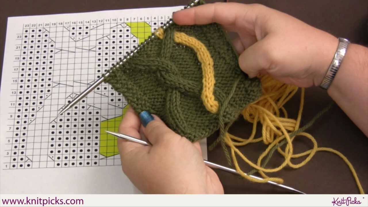 Advanced Cabling Techniques: Intarsia Cables - YouTube