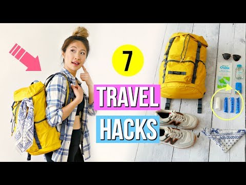 7 Travel Hacks YOU Should Know! How to Pack a Carry On Bag!