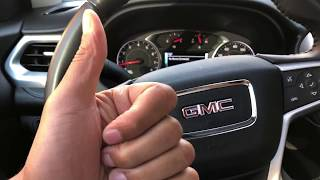 GMC Acadia - Parking brake and turn on/off