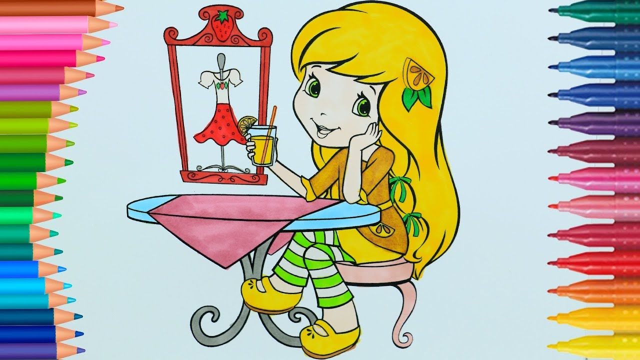 Limon Kız Lemonita Ve çilek Kız Starwberita Boyama Sayfası Ile