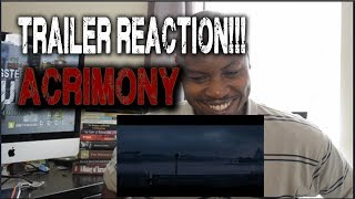 Acrimony (2018 Movie) Official Trailer REACTION!!!