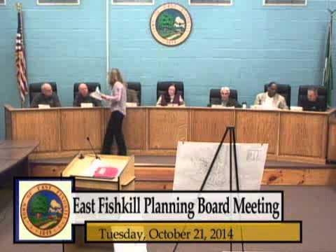 East Fishkill Planning Board Meeting 10-21-14