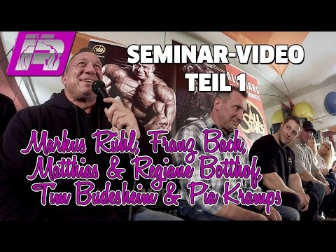 Seminar (Teil 1) mit Markus Rühl   Matthias & Regiane Botthof   Tim Budesheim   Franz Bach