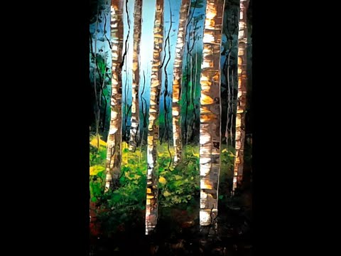 Spray Paint Art 12- The Birch Forest