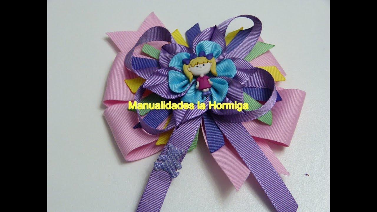 Como hacer lazos y flores kanzashi how to make bows and - Manualidades con lazos ...