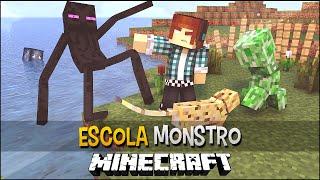 Minecraft Escola Monstro #04 -Superando Os Medos !!  Monster School