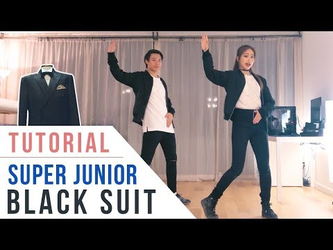 Super Junior 슈퍼주니어 - Black Suit Chorus Dance Tutorial (Mirrored) | Ellen and Brian