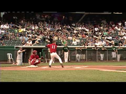 16-year old Bryce Harper beats minor league players in home run derby
