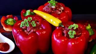 Очень Вкусный Фаршированный Перец. Пошаговый Рецепт.Перец Фаршированный Мясом и Рисом.  Peppers.