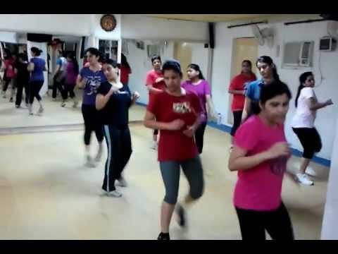 Reebok Floor aerobics class, at anujacademy, New delhi. India. www.aerobicsclassdelhi.com
