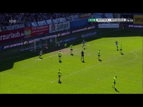 Hansa Rostock gegen Wehen Wiesbaden - 35. Spieltag 17/18 - Tore, Interview Dotchev
