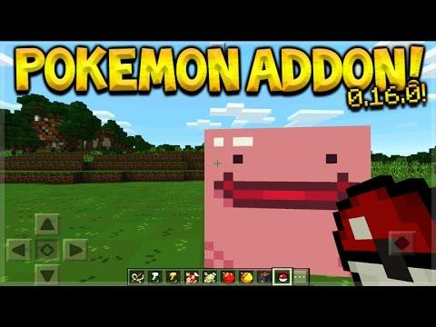 POKEMON ADDON! Minecraft Pocket Edition - 0.16.0 Pokemon Addon BEHAVIOR PACK! (Pocket Edition)