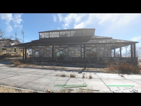 Fallout 4 Strip-Mall Build (Trading Post 2.0) PS4 No Mods