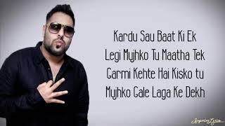 Garmi - Street Dancer 3D (Lyrics)   Badshah, Neha Kakkar