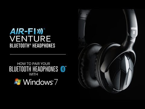 How To Pair Your Bluetooth Headphones With Windows 7 Mee Audio Venture Youtube