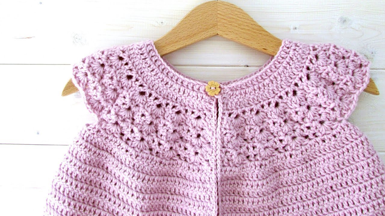 How To Crochet A Lace Top Baby Cardigan Sweater The Rosie