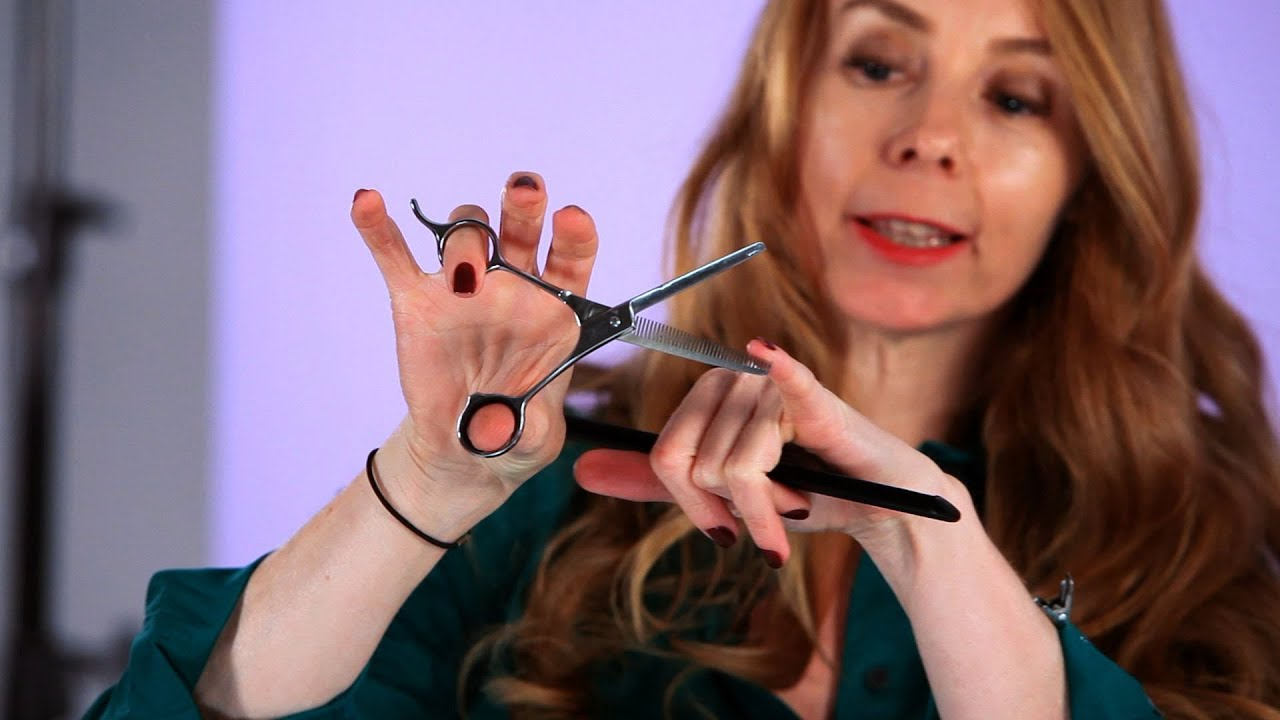 style cutting hair how to use notching shears hair cutting 7074