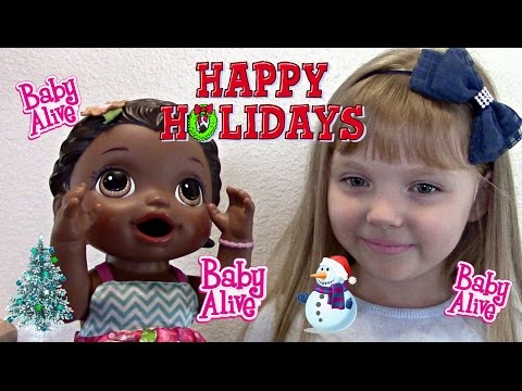 BABY ALIVE decorates her HOLIDAY TREE! The Mommy and Lilly Show! Shopping, singing, decorating..