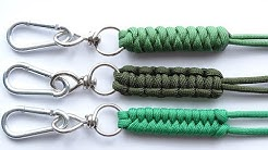 "DIY-Top 3 Easiest Paracord ""Neck-Knife-Keychain"" Lanyard - Cobra-Snake-Fishtail Knot – CBYS"