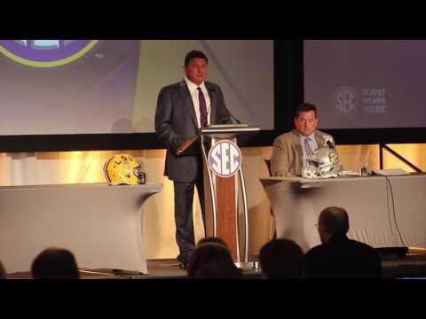 LSU head coach Ed Orgeron at SEC Media Days - FULL Press Conference
