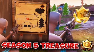 SEASON 5 TREASURE! | Follow The Treasure Map Found In Risky Reels! | Lazy Links + Paradise Palms!