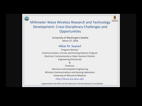 UWEE Research Colloquium: March 27, 2018 - Akbar Sayeed, University of Wisconsin