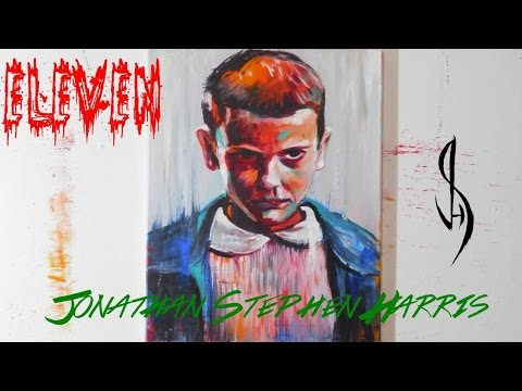 Contemporary Modern Art - Painting Eleven from Stranger Things