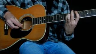 Kurt Cobain - She Only Lies Acoustic Guitar Cover