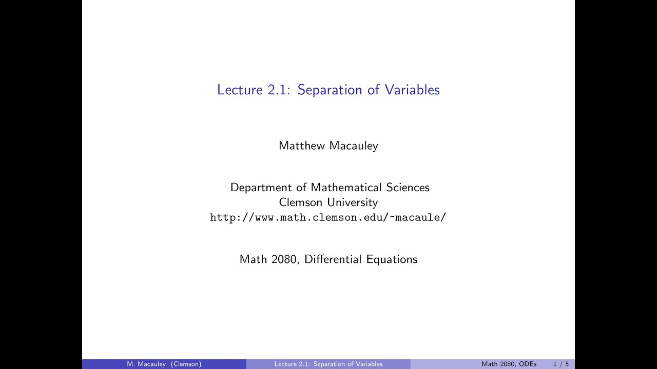 Differential Equations Lecture 21 Separation of variables YouTube – Separable Differential Equations Worksheet