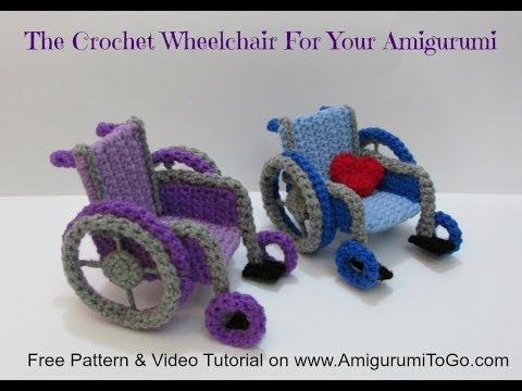 How To Crochet A Wheelchair Youtube