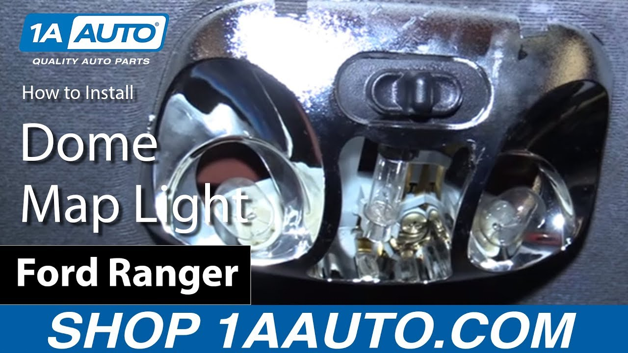 How to Replace    Dome    Map    Light    Bulbs 9803    Ford       Ranger     YouTube