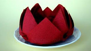 Servietten falten Rose / Lotus / Blume - Einfache DIY Origami Blumen Deko basteln - Origami Rose