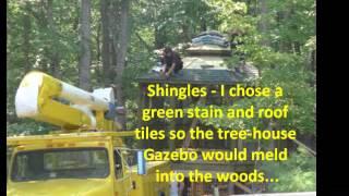 Building our tree-house gazebo in Bryce Resort, VA
