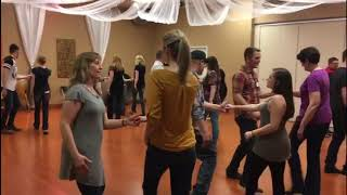 Excerpt from our West Coast Swing 101: Bootcamp taught by Matt & Camie Webb!