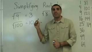 Algebra - Simplifying Radicals
