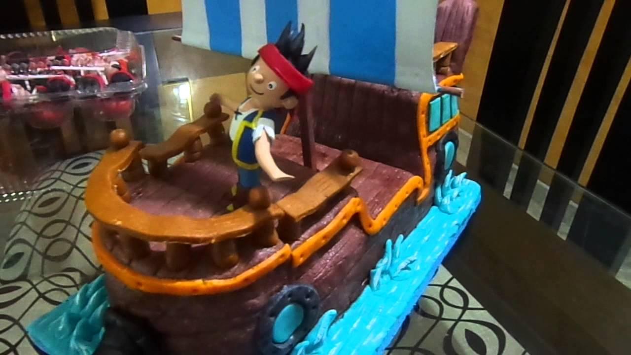 TORTA EN FORMA DEL BARCO DE JACK Y LOS PIRATAS DEL NUNCA JAMAS - YouTube