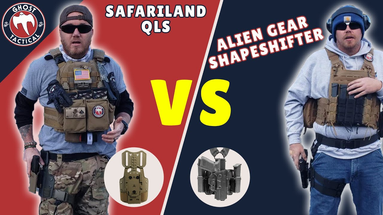 SAFARILAND QLS vs ALIEN GEAR ShapeShifter Drop Leg Holster COMPARISON