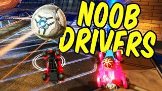 Noob Drivers - Rocket League Funny Moments and Fails