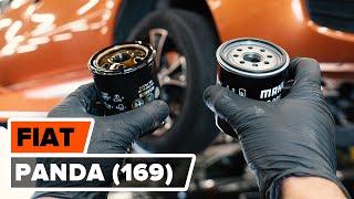 Hoe een oliefilter en motorolie vervangen op een FIAT PANDA (169) [HANDLEIDING AUTODOC]