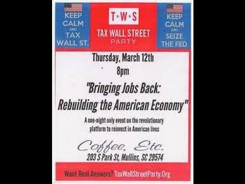 Eric Metts and Dylan Shelton of the Tax Wall Street Party at Coffee Etc in Mullins SC Part 2