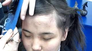 косая челка и как ее подстричь учебный процесс