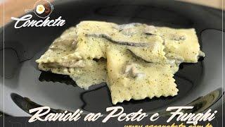 Como preparar um Ravioli ao Pesto e Funghi