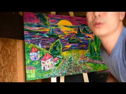 Paint Landscape Progress with Artist Duong Gia Liem