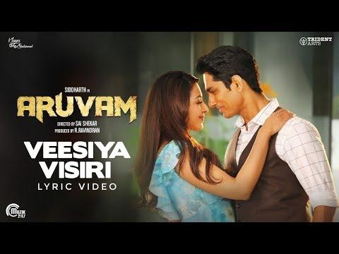 Aruvam  Veesiya Visiri Lyric Video  Siddharth, Catherine Tresa  Yuvan Shankar Raja  Ss Thaman