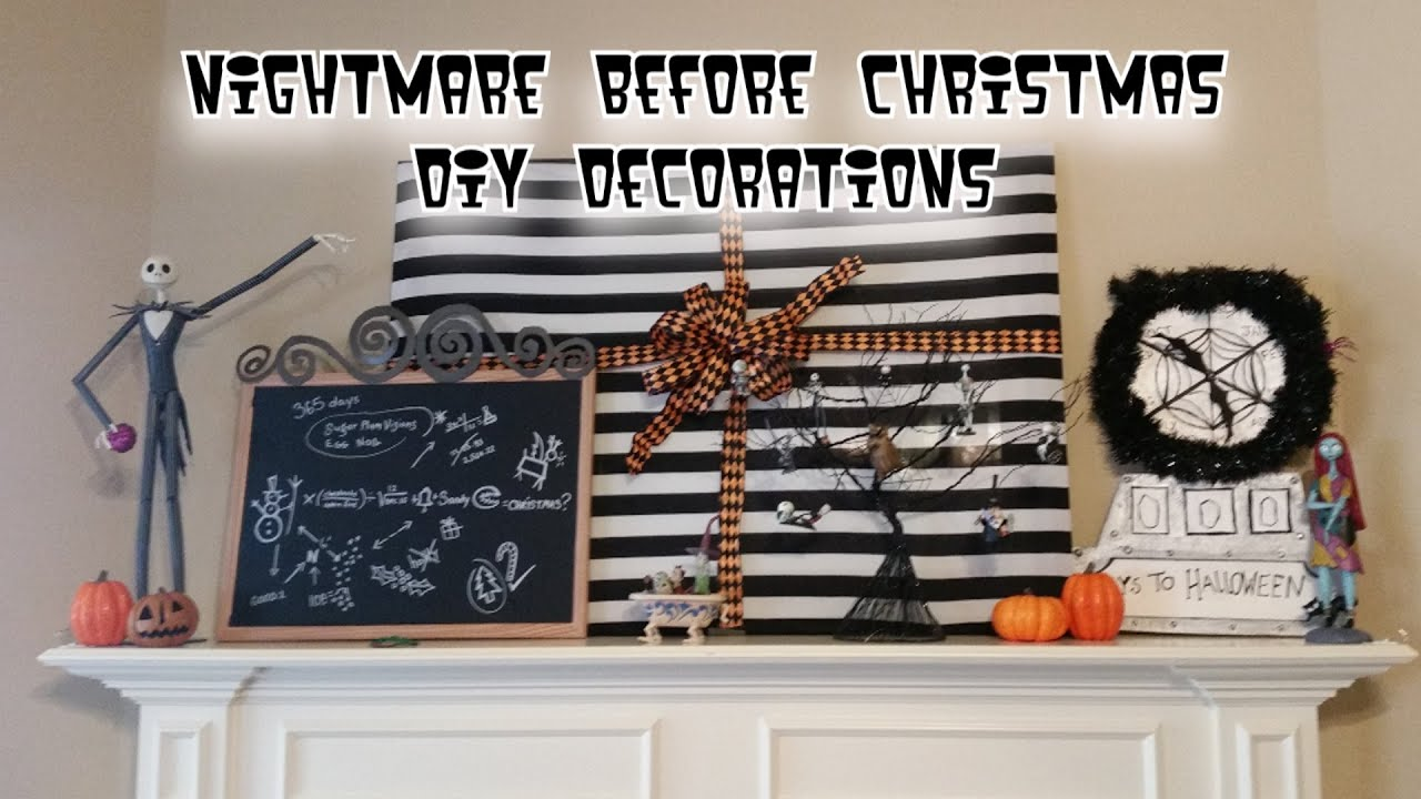 disneys nightmare before christmas diy decor crafts jack skellington sally oogie boogie more youtube