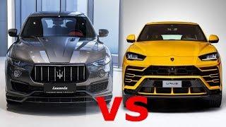 2019  Lamborghini Urus  vs  2019 Maserati Levante GranSport.  Urus -$200k v Levante-$82k