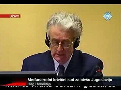 Karadžić - Initial Appearence - English subs