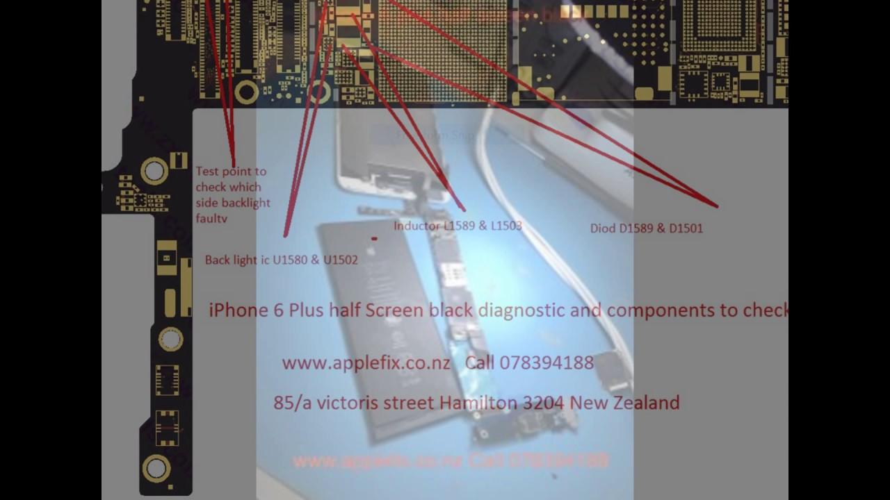 the best attitude 29fb9 fc19b iphone 6 plus half screen black repair